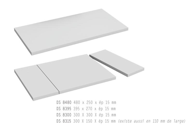 Les plateaux pour sols de vitrine : 4 tailles