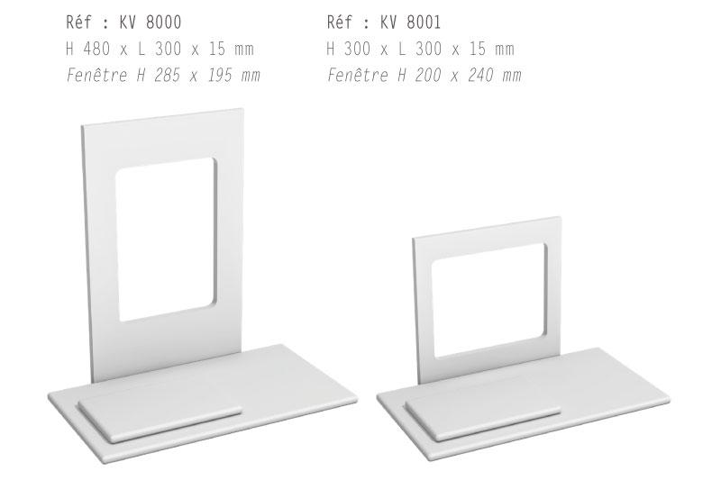 Les verticaux / frontons avec fenêtre