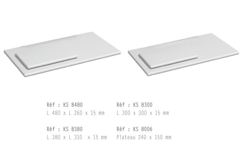 Les plateaux pour les sols de vitrine : 4 tailles