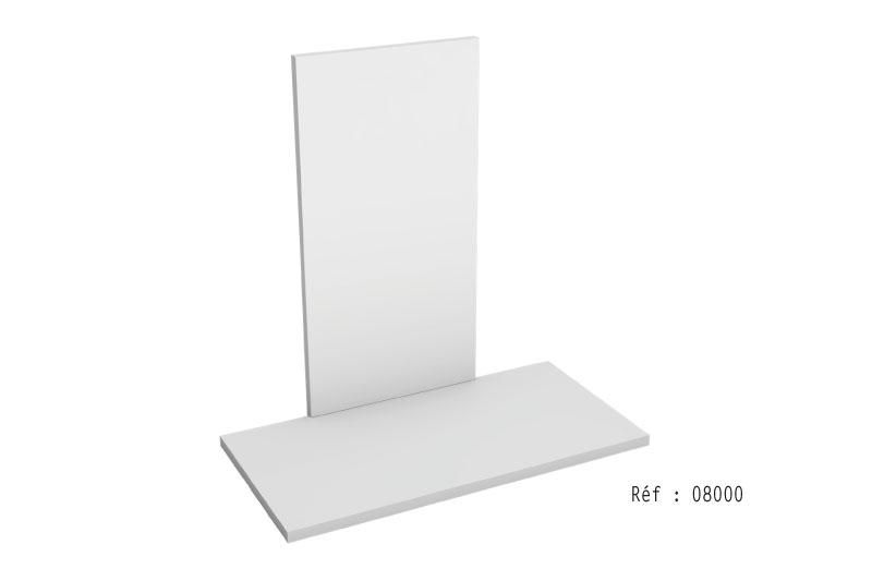 Le vertical / fronton + le pateau de sol