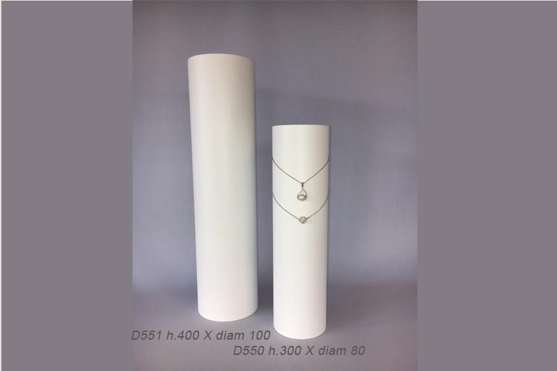 Cylindres / bustes pour les colliers et chaînes pendentifs.
