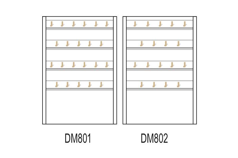 Les plateaux magnétiques pour les fonds de vitrines pour créoles et boucles d'oreilles pendantes.