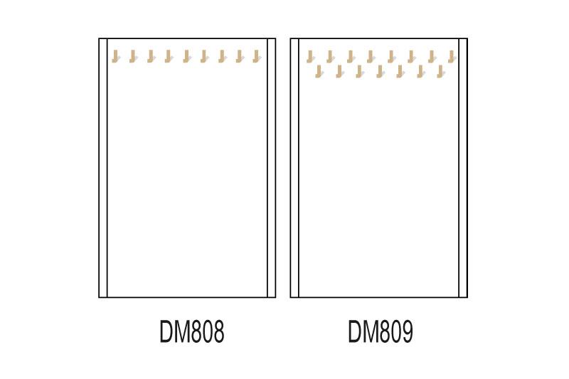 Les plateaux magnétiques pour les fonds de vitrines pour chaînes et bracelets.